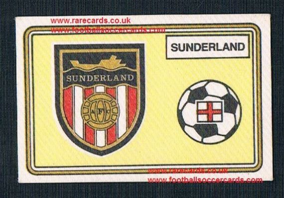 1979 Panini Football 79 silk sticker with backing paper, almost as good as new 419 Sunderland